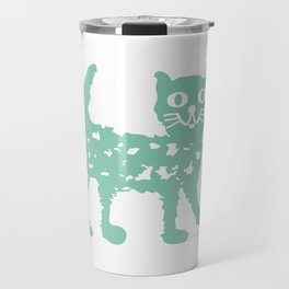 Mint cat drawing, cat drawing Travel Mug