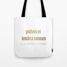 Pulvis Et Umbra Sumus Tote Bag