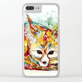 """""""You're So Foxy"""" - Fennec Fox Clear iPhone Case"""