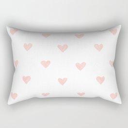 Pink hearts watercolor Rectangular Pillow