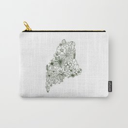 Maine State Floral Carry-All Pouch