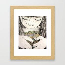 MOUNTAIN MILK Framed Art Print