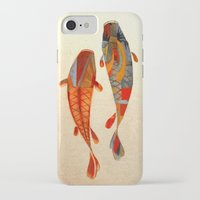 fish iPhone & iPod Cases featuring Kolors Koi by Fernando Vieira