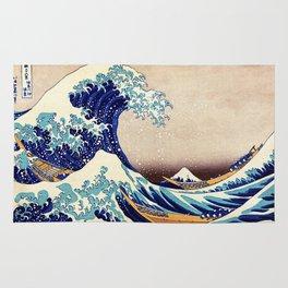 Katsushika Hokusai The Great Wave Off Kanagawa Rug