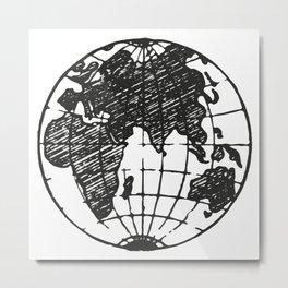 World Metal Print