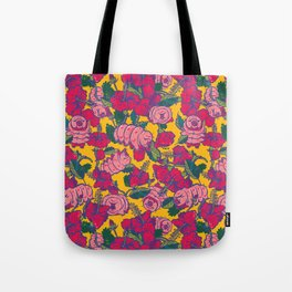 Water bears with Flowers Tote Bag