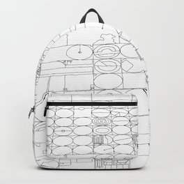 Texas from the Sky - Line Art Backpack