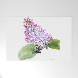 Lilac Love by Teresa Thompson Welcome Mat