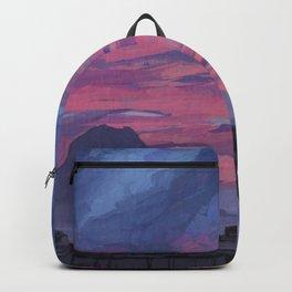 Sunrise behind Vesuvius, New Year Backpack