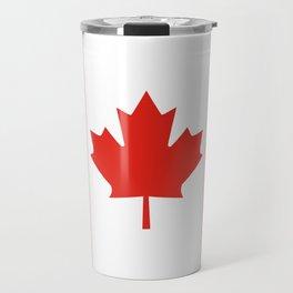 Red and White Canadian Flag Travel Mug