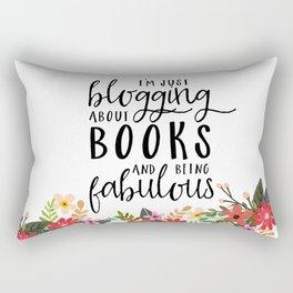 Blogging About Books Rectangular Pillow
