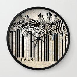 Zebra Barcode Wall Clock