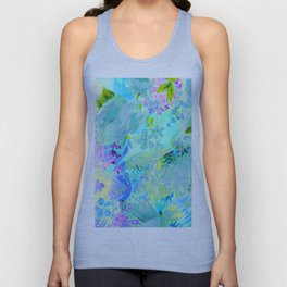 abstract floral Unisex Tank Top