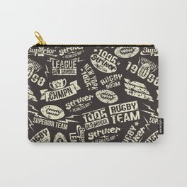 Sport rugby emblems pattern Carry-All Pouch
