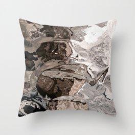 Brownskin texture Throw Pillow