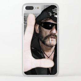 Lemmy Kilmister Clear iPhone Case