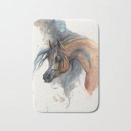 Arabian horse portrait Bath Mat