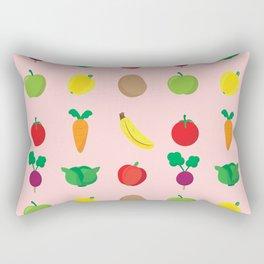 A Cute Concoction of Fruit and Vegetables. Vegan Heaven! Rectangular Pillow