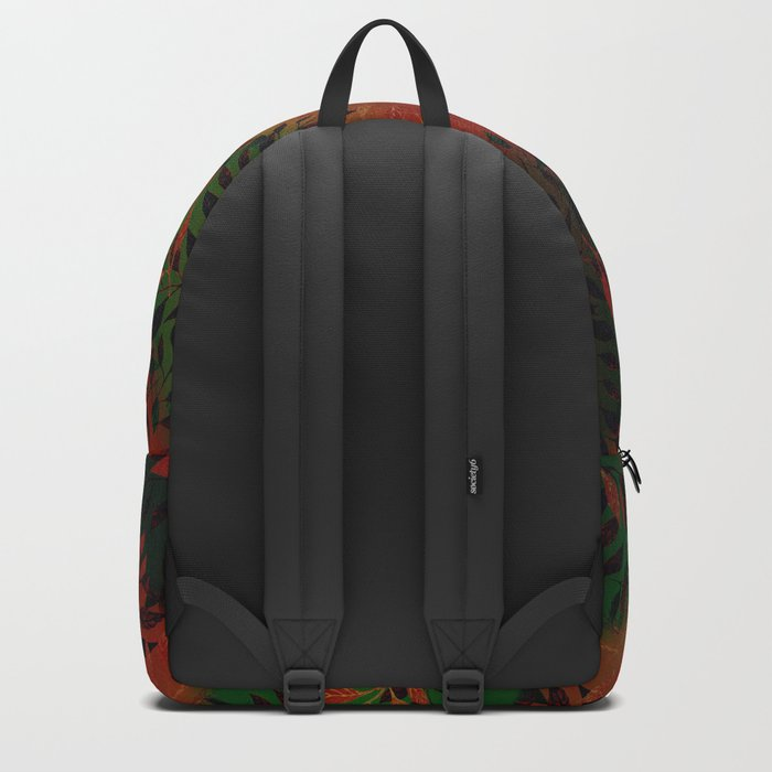 Abstract Leaf Arrangement (African Colors) Backpack