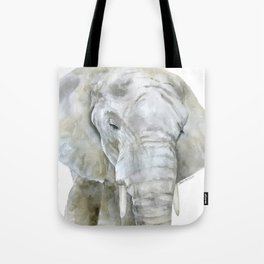 Elephant Watercolor Painting - African Animal Tote Bag