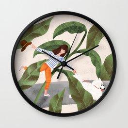 Going On A Walk Wall Clock