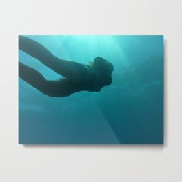 Under Water Love Metal Print