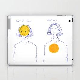 Sometimes Here, Sometimes Not Laptop & iPad Skin