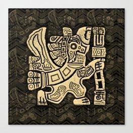 Aztec Eagle Warrior Canvas Print