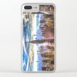 New York Manhattan Skyline Art Clear iPhone Case
