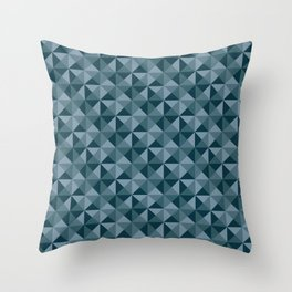 Blue Quartet Throw Pillow