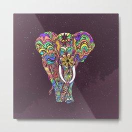 psychedelic elephant -e Metal Print