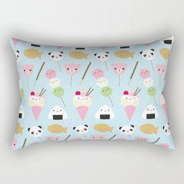 Japanese Kawaii Snacks Rectangular Pillow