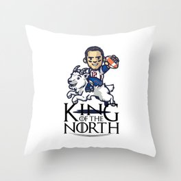 Tom Brady - king of the north Throw Pillow