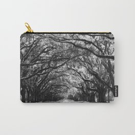 Sunny Southern Day - Black and White Carry-All Pouch