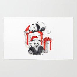 Christmas-Panda's babies g144 Rug
