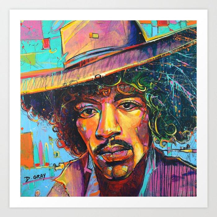 Large Jimi Hendrix Wall Art Acrylic Painting Pop Art American Icon ...