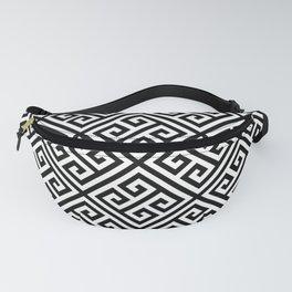 black and white pattern , Greek Key pattern -  Greek fret design Fanny Pack