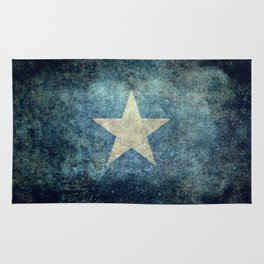 Flag of Somalia - Super Grunge version Rug