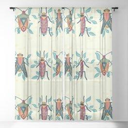 Playful Bug Garden Sheer Curtain