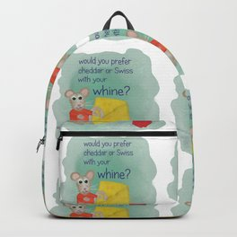 cheese with whine Backpack