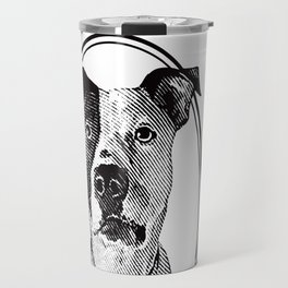 Pit Bull with oval frame Travel Mug