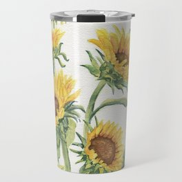 Blooming Sunflowers Travel Mug