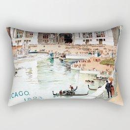 Vintage 1893 Chicago World's fair expo Rectangular Pillow