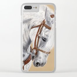 Horse Portrait 01 Clear iPhone Case