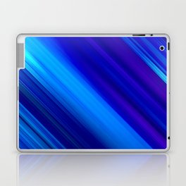 Abstract watercolor colorful lines painting Laptop & iPad Skin