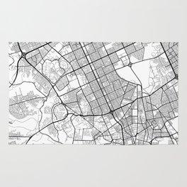 Riyadh Map White Rug