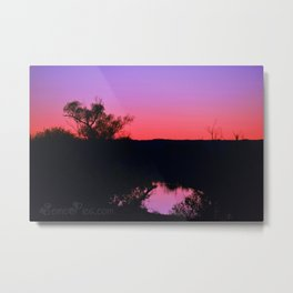 Inspiration Point Pink Sunset Metal Print