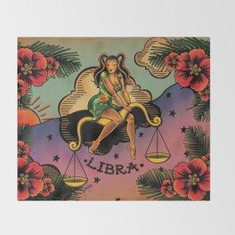 Tattoo Libra Throw Blanket