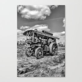 "Showmans Engine ""Lord Nelson""  Black and White Canvas Print"