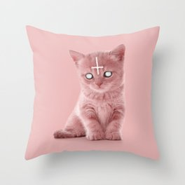 LUCIPURR Throw Pillow